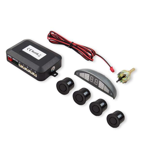 Czujniki parkowania, wyświetlacz, czarne sensory, CP-03/B