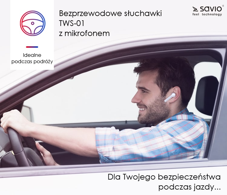 TWS-01 Wireless Earphones Słuchawki bezprzewodowe bluetooth