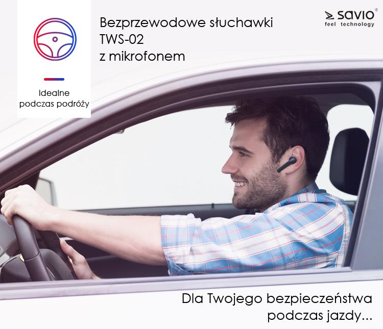 TWS-02 Wireless Earphones Słuchawki bezprzewodowe bluetooth