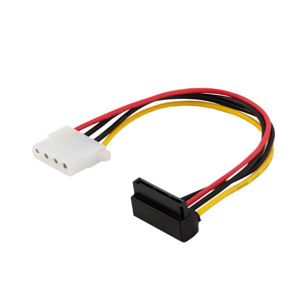 Kabel zasilający MOLEX 4 pin (F) – SATA 15 pin (F) kątowy AK-42