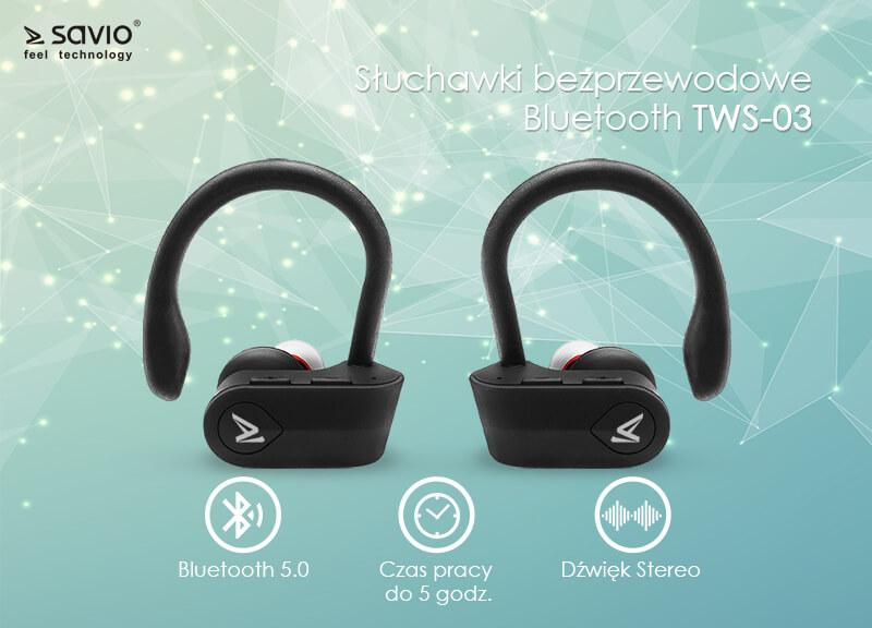 TWS-03 Wireless earphones słuchawki bezprzewodowe bluetooth