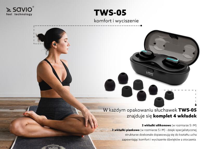 TWS-05 Wireless earphones słuchawki bluetooth bezprzewodowe