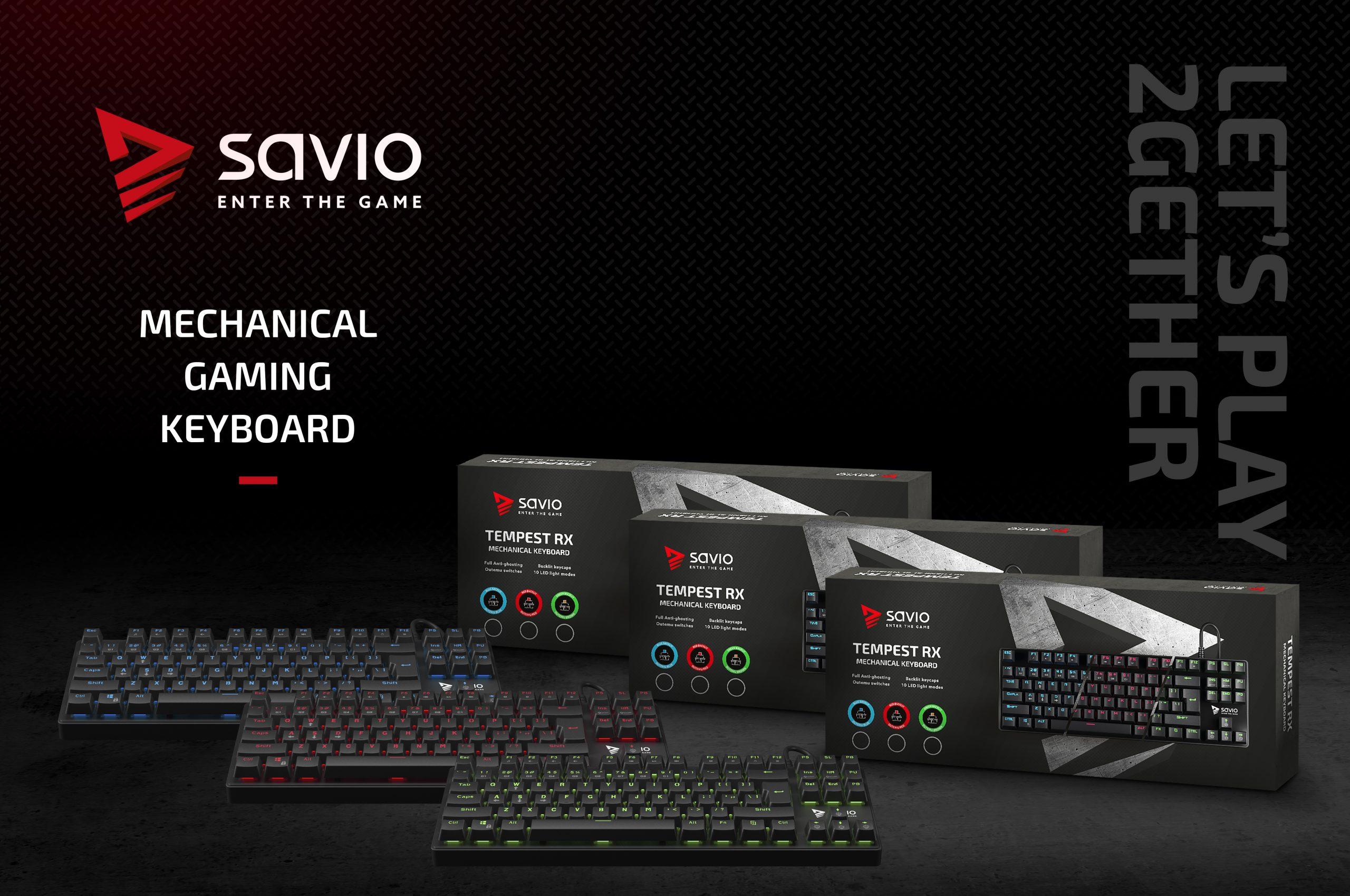 Gaming Keyboard SAVIO Tempest RX Outemu BLUE