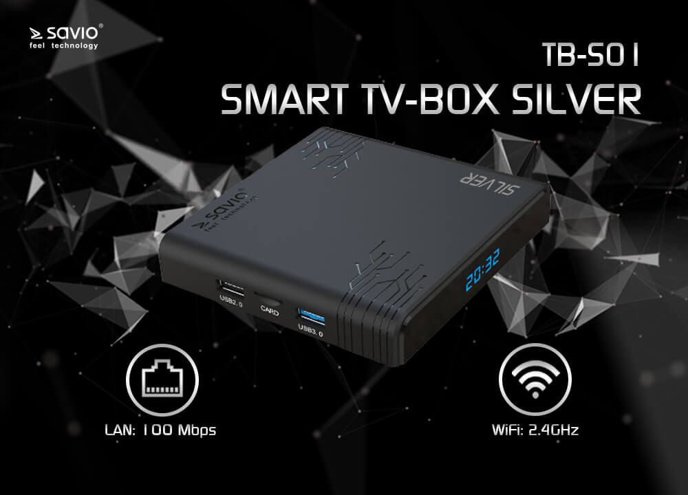 TB-S01 TV BOX SILVER SAVIO