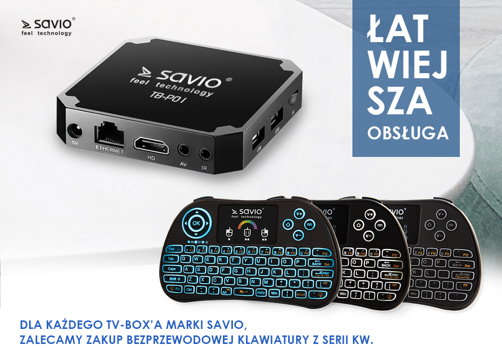TB-G01 TV BOX PLATINUM SAVIO