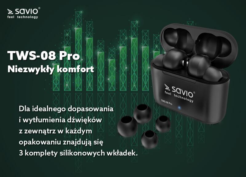 TWS-08 PRO słuchawki bluetooth
