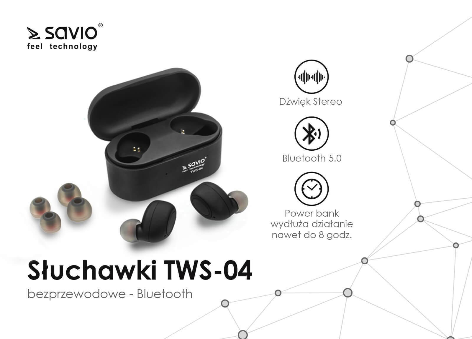 TWS-04 Wireless earphones słuchawki bezprzewodowe bluetooth