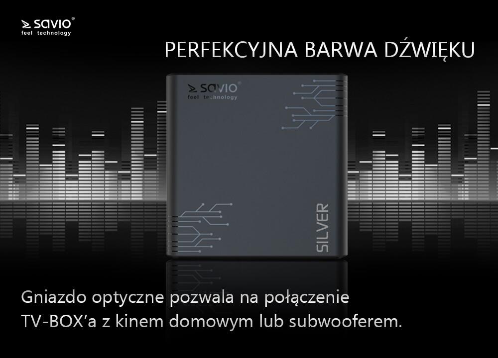 TB-S01 TV BOX SILVER SAVIO