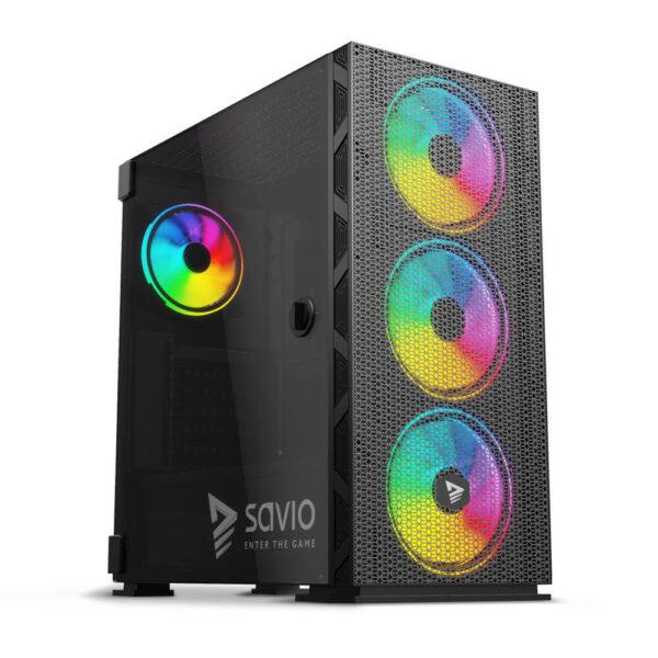 SAVIO Raptor X1 ARGB Case Mesh / Glass