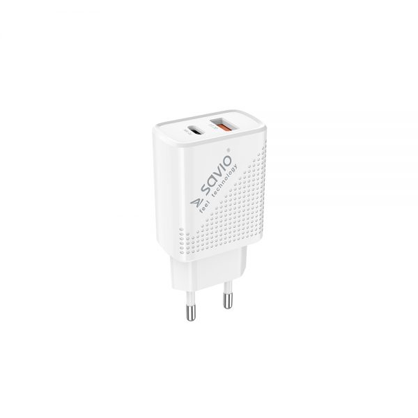 Wall USB charger Quick Charge Power Delivery 3.0 18W SAVIO LA-04