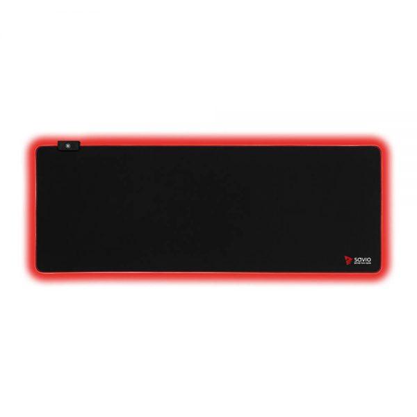 Podkładka Gamingowa LED Edition z obszyciem SAVIO Turbo Dynamic XL
